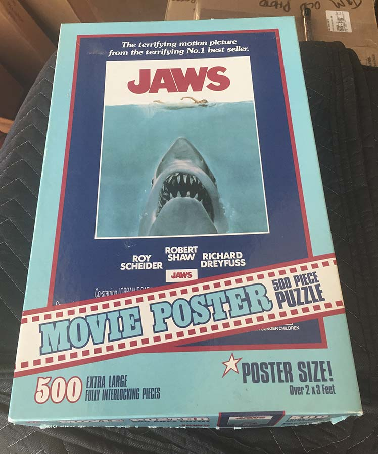 Vintage 1975 Jaws Movie Poster 500 Piece Jigsaw Puzzle 2x3 ...